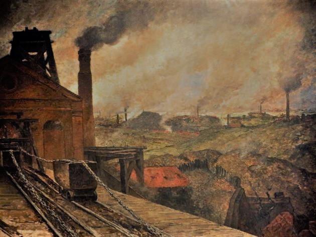 soutènement en bois dans les mines de charbon
